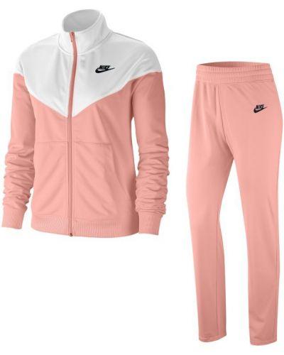 Różowy dres dzianinowy vintage Nike