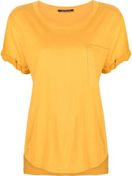 Желтая футболка с вырезом Luisa Cerano