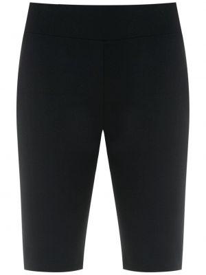 Черные шорты с поясом узкого кроя Lygia & Nanny