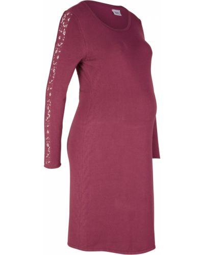 Платье для беременных со вставками вязаное Bonprix