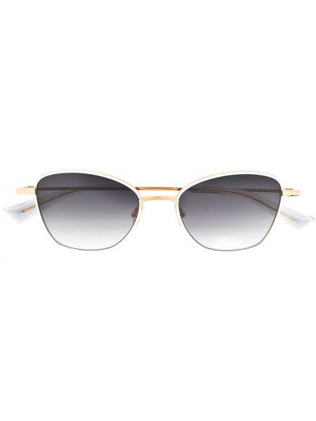 Białe złote okulary Christian Roth