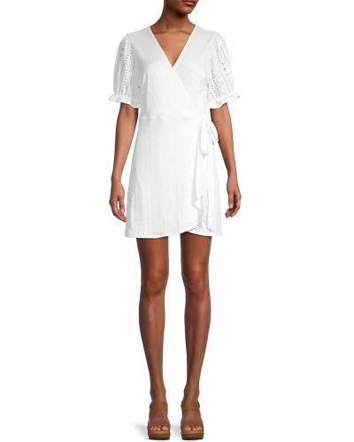 Белое купальное платье с вышивкой с V-образным вырезом Bcbgeneration