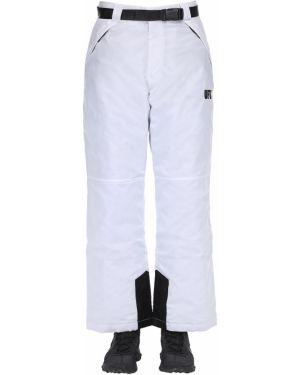 Białe ciepłe spodnie klamry Ufu - Used Future