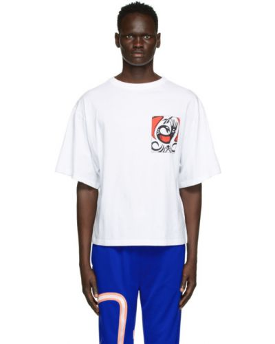 Czarny t-shirt bawełniany z haftem Reebok By Pyer Moss