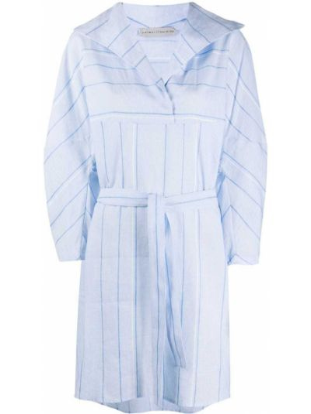 Хлопковое синее классическое платье с лацканами Palmer / Harding