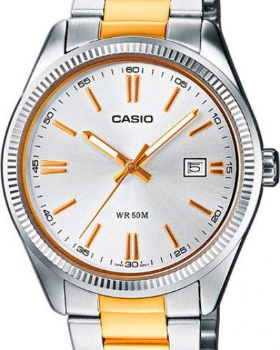 Часы водонепроницаемые с подсветкой серые Casio