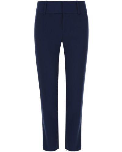 Синие укороченные брюки из вискозы Alice + Olivia