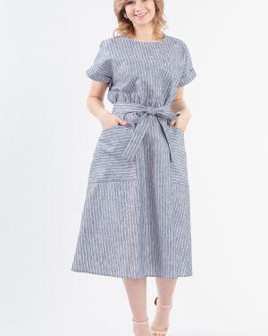 Платье макси серое в полоску Lacywear