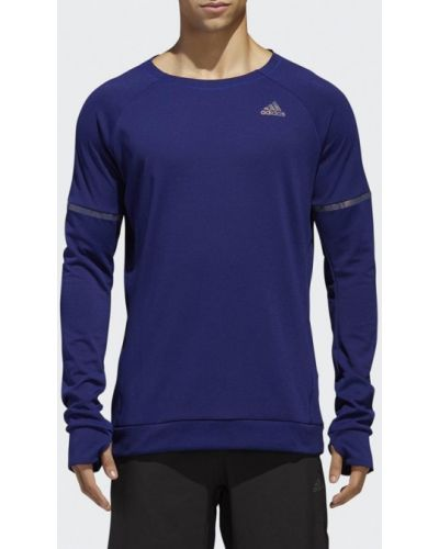 Серый спортивный лонгслив Adidas