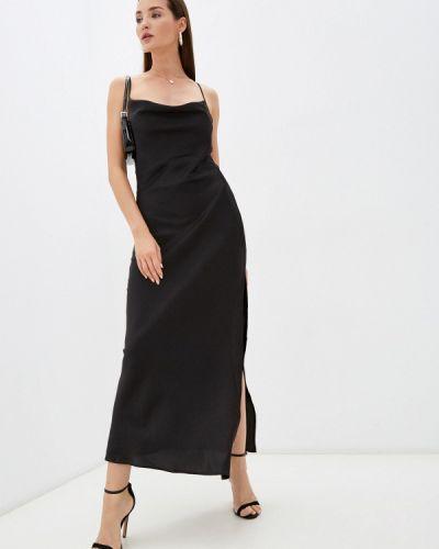 Черное зимнее вечернее платье Imocean