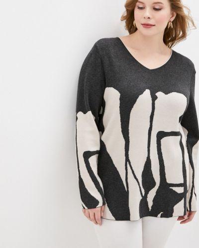 Серый пуловер Ulla Popken