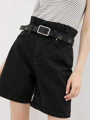 Черные джинсовые шорты Trendyol
