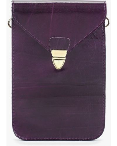 Кожаная сумка через плечо фиолетовый Alexander Tsiselsky