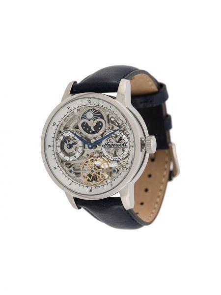Niebieski zegarek na skórzanym pasku skórzany Ingersoll Watches