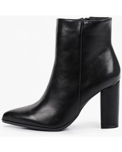 Черные пинетки из искусственной кожи с острым носом Ideal Shoes