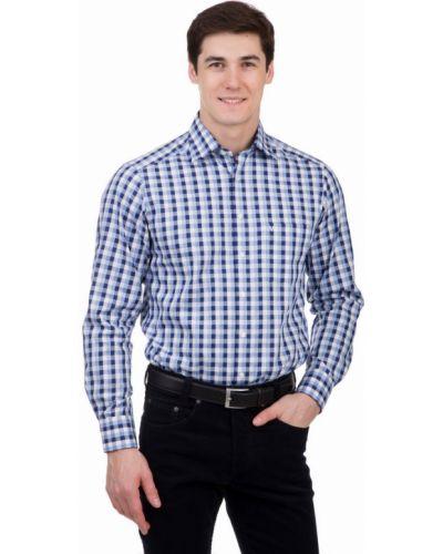 Рубашка с длинным рукавом в клетку синий Marvelis