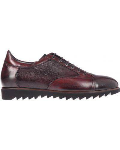 Кожаные туфли - бордовые Mario Bruni