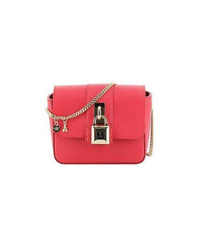 Красная кожаная сумка Patrizia Pepe