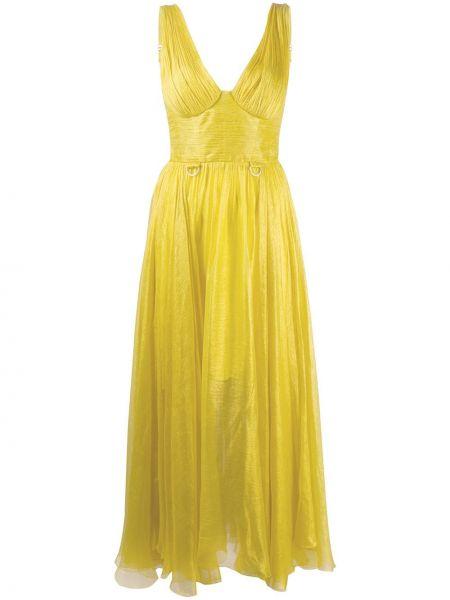 Платье миди с V-образным вырезом на молнии Maria Lucia Hohan