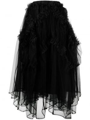 С завышенной талией черная юбка миди с оборками Comme Des Garçons Noir Kei Ninomiya
