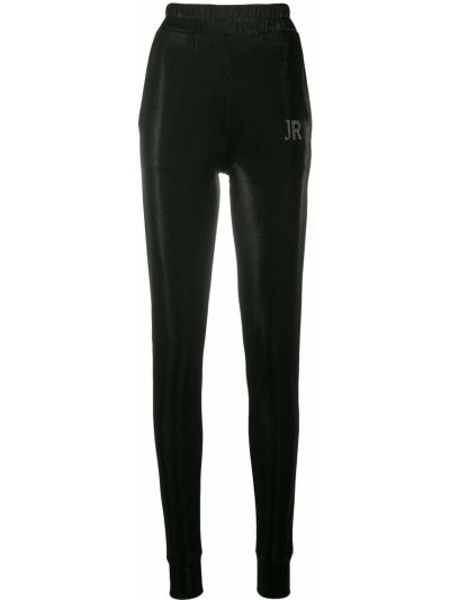Спортивные черные спортивные брюки с поясом John Richmond