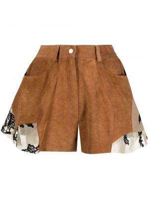Кружевные с завышенной талией шорты на пуговицах Almaz