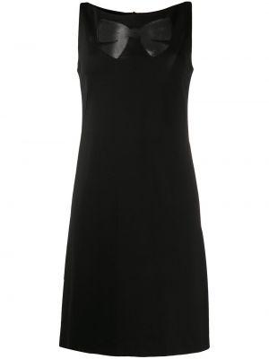 Черное платье без рукавов из вискозы Moschino Pre-owned