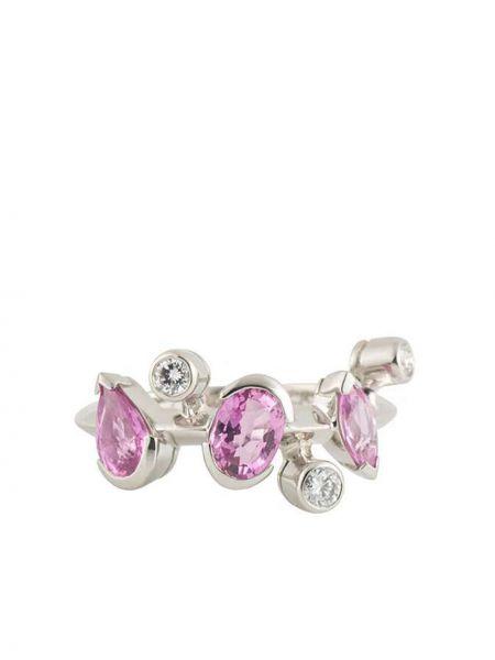 Розовое кольцо с бриллиантом Cartier