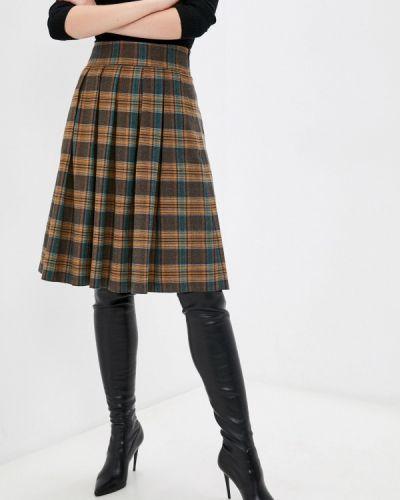 Плиссированная юбка - коричневая Shovsvaro