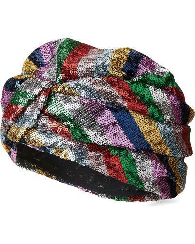 Srebro turban z falbankami Maison Michel