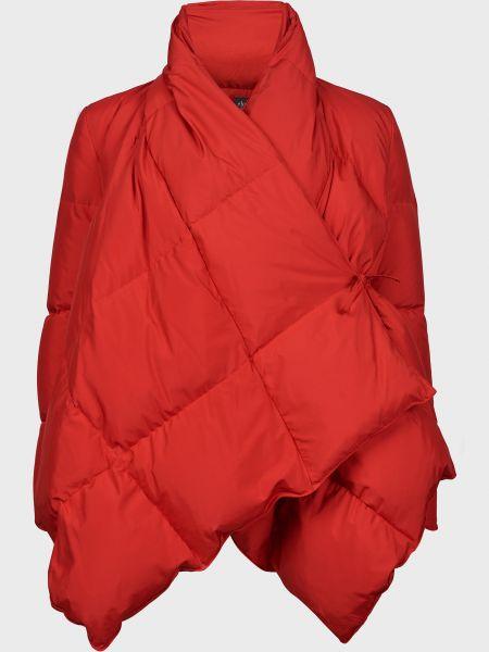 Красный пуховик с подкладкой с перьями Eleventy