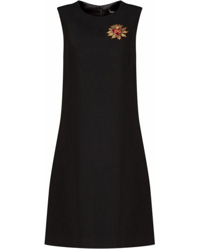 Платье мини с вышивкой на бретелях Dolce&gabbana