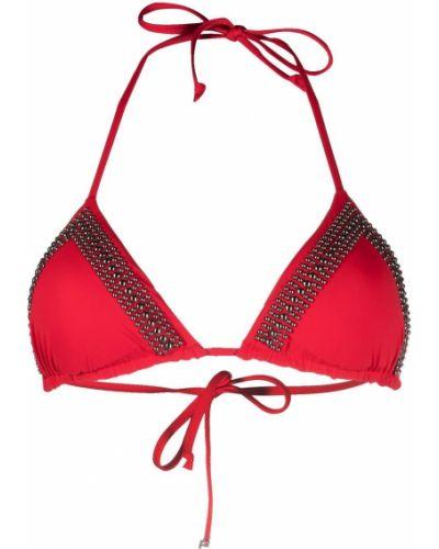 Красный пляжный лиф с завязками Fisico