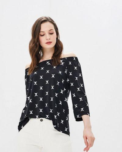 Блузка с открытыми плечами весенний черная Ruxara