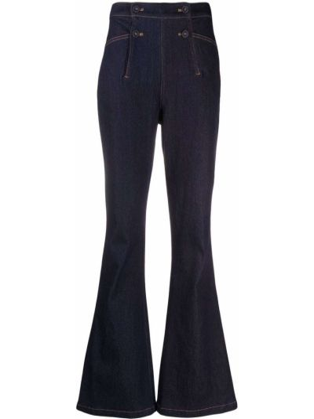 Niebieskie mom jeans bawełniane Dvf Diane Von Furstenberg