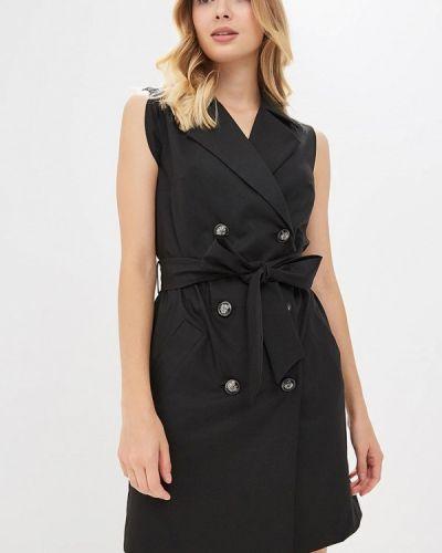 Платье осеннее черное Bezko