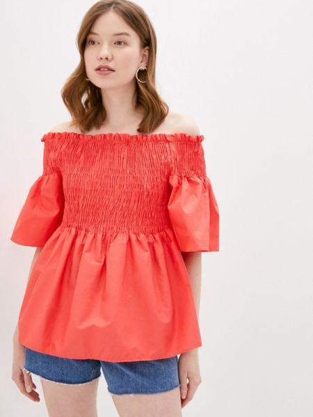 Коралловая блузка с открытыми плечами Care Of You