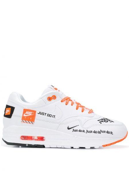 Кожаные кроссовки с вышивкой с логотипом Nike