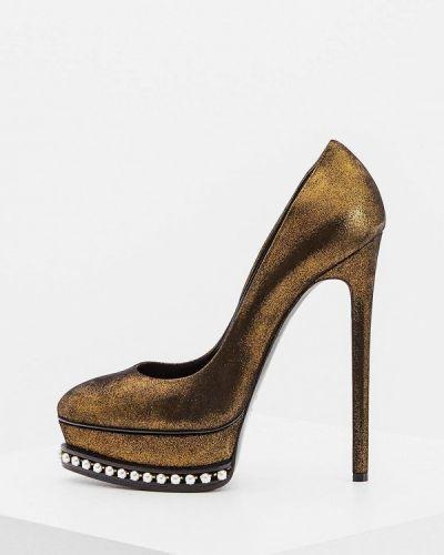 Туфли осенние для офиса на каблуке Casadei