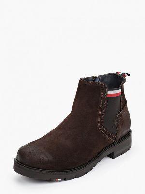 Коричневые зимние ботинки Tommy Hilfiger
