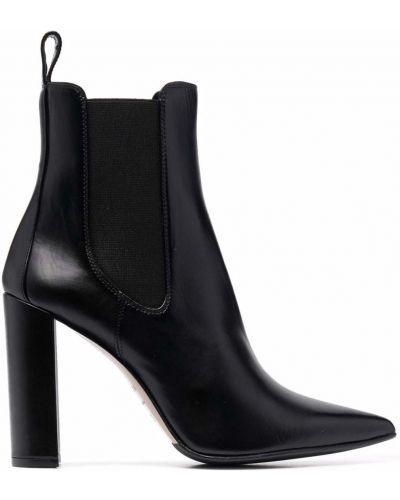Кожаные ботинки челси - черные Le Silla