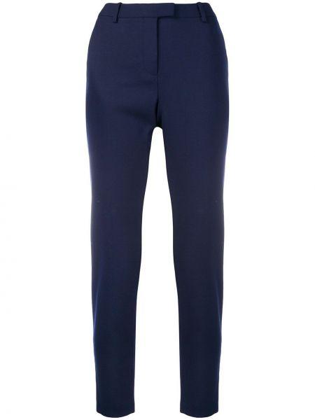Синие шерстяные брюки с высокой посадкой эластичные Altuzarra