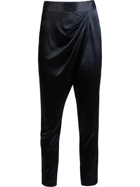 Шелковые брюки - синие Michelle Mason
