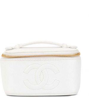 Kosmetyczka skórzana - biała Chanel Pre-owned