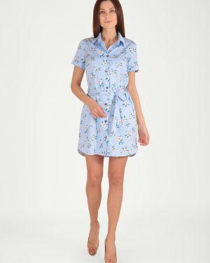 Платье с поясом на пуговицах платье-рубашка Viserdi