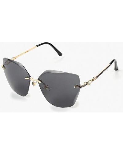 Солнцезащитные очки золотого цвета Pur Pur