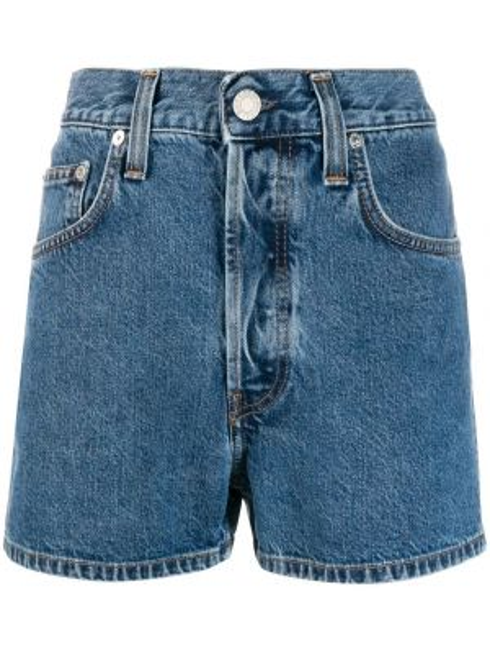 Джинсовые шорты с карманами со стразами на пуговицах Helmut Lang