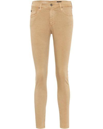 Bawełna bawełna zawężony niebieski obcisłe dżinsy Ag Jeans