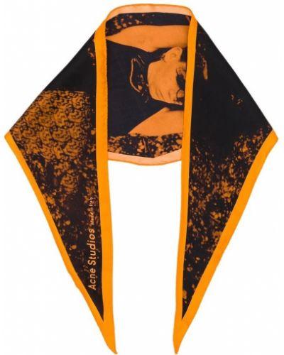 Pomarańczowy szalik Acne Studios