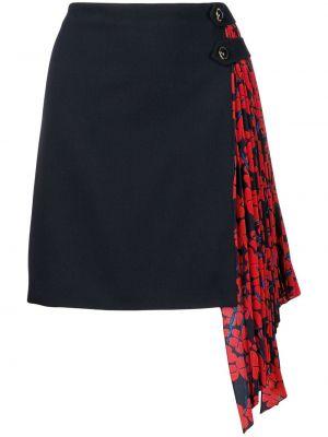 Spódnica mini z wysokim stanem asymetryczna wełniana Givenchy